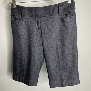Ann Taylor Loft Shorts Grey Lined Virgin Wool SZ 4